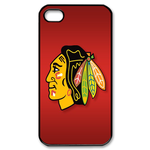 Best Chicago Blackhawk iphone 4s case Custom Case for iPhone 4,4S
