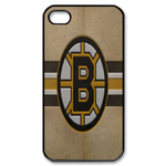 Grey Boston Bruins iphone 4s case Custom Case for iPhone 4,4S  