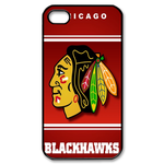 Red Chicago Blackhawk iphone 4s case Custom Case for iPhone 4,4S  