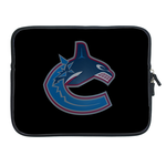 Black Vancouver Canucks ipad 2 sleeve Two Sides Sleeve for Ipad 2