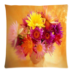 "Beautiful Flowers Pillow Case Custom Pillow Case 18""x18""(two side)"