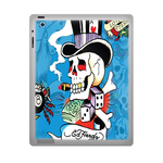 Blue Ed Hardy ipad 3 gel skins Custom Gel Skins for Ipad 3