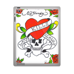 Ed Hardy Skull and Roses ipad 3 gel skins Custom Gel Skins for Ipad 3