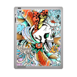 Fish and Skull Ed Hardy ipad 3 gel skins Custom Gel Skins for Ipad 3