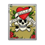 Kills Love Slowly Ed Hardy ipad 3 gel skins Custom Gel Skins for Ipad 3
