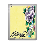 Yellow Ed Hardy ipad 3 gel skins Custom Gel Skins for Ipad 3
