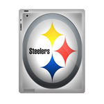 Silver Pittsburgh Steelers ipad 3 gel skins Custom Gel Skins for Ipad 3