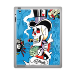 Ed Hardy Skull ipad 2 gel skins Custom Gel Skins for Ipad 2