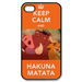 Keep Calm and Hakuna Matata Custom Case for iPhone 4,4S