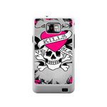 Pink Heart Ed Hardy Samsung Galaxy S II Case Case For Samsung Galaxy S2  I9100