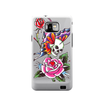 Skull and Rose Ed Hardy Samsung Galaxy S II Case Case For Samsung Galaxy S2  I9100