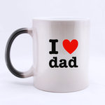 I Love Dad Morphing Mug Custom Morphing Mug