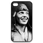 Amelia Earhart Black & White Iphone 4 ,4s cases Custom Case for iPhone 4,4S