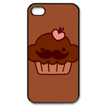 Custom Moustache Cupcake iPhone4,4s Case Custom Case for iPhone 4,4S