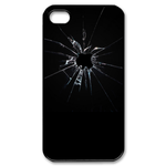 Apple Broken Glass Custom Iphone 4, 4s Case Custom Case for iPhone 4,4S