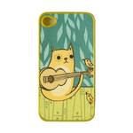 Guitar Cat Custom Iphone 4, 4s Case Custom Cases for Iphone 4,4s