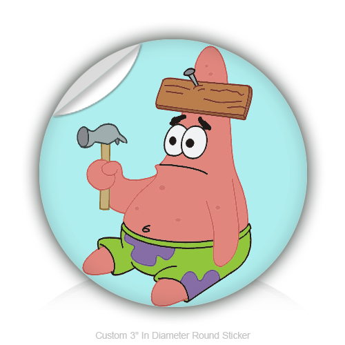 Sticker design studio create your own custom stickers - Patric Star 3 Quot In Diameter Round Sticker
