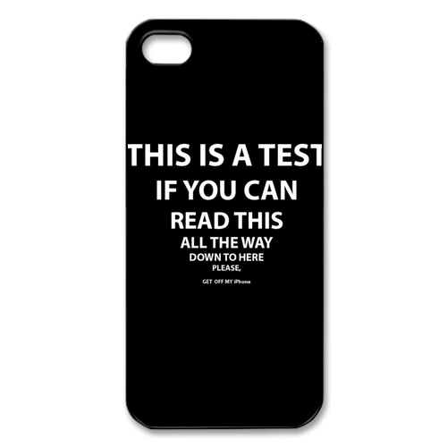 u00bb Iphone 5 Cases u00bb Funny iPhone 5 Cases u00bb This is A Test Iphone ...