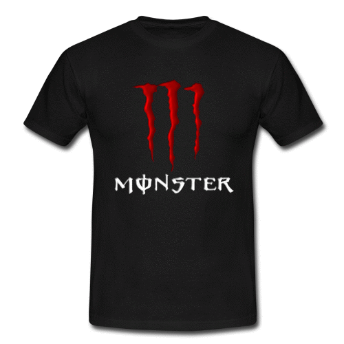 red monster energy men 39 s classic t shirt. Black Bedroom Furniture Sets. Home Design Ideas
