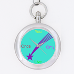 YOLO pocket watch Custom Key Chain Watch (Round )