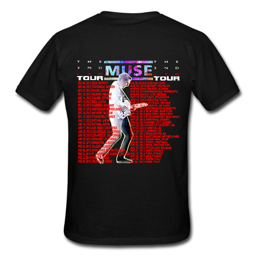 Muse The 2nd Law Tour Band 2012 2013 Men 39 S Custom Gildan T