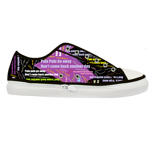 go away custom canvas shoes model001