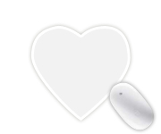 Heart-shaped Mousepads
