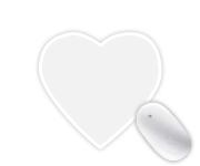 Heart-shaped Mousepads