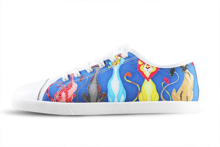 custom canvas shoes for model016 black