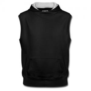 Men's Sleeveless Hoodie Model