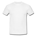 Men's classic white t-shirt Model T12