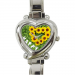 Custom Heart-Shaped Italian Charm Watch