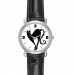 Black Leather Alloy High-grade Watch