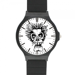 Custom Black Plastic High Quality Watch(Round)
