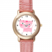 Pink Leather Alloy High-grade Watch