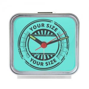 Custom Square Silver Alarm Clock Photo Clocks