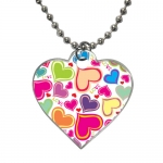 Custom Dog Tag Heart shaped two sides