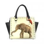 Custom Rivet Shoulder Handbag (Model 1645)