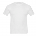 Men's Slim Fit T-shirt (White) Model T09