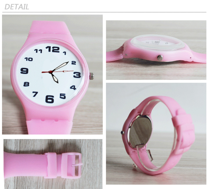 Plastic Watches square inside Custom ladies plastic watch