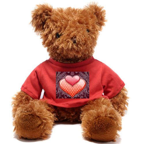 Custom Cute Brown Teddy Bear Dropshipping(front And Back