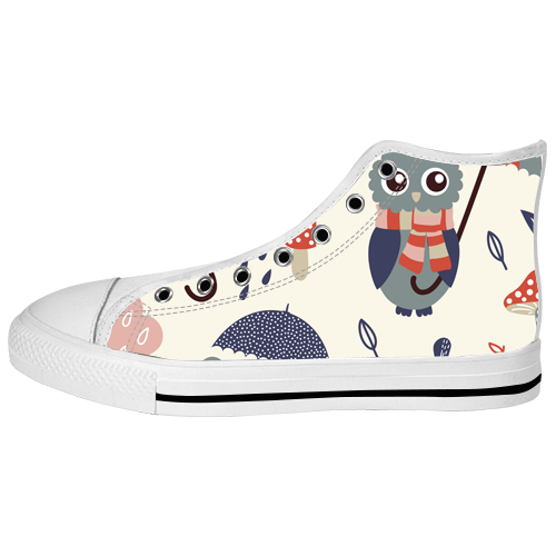 custom high top canvas shoes for model017 large size